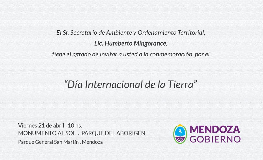 Invitación Oficial Día de la Tierra Mendoza