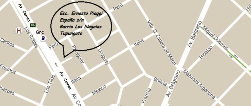 Mapa Escuela Casting Vendimia (Tupungato)