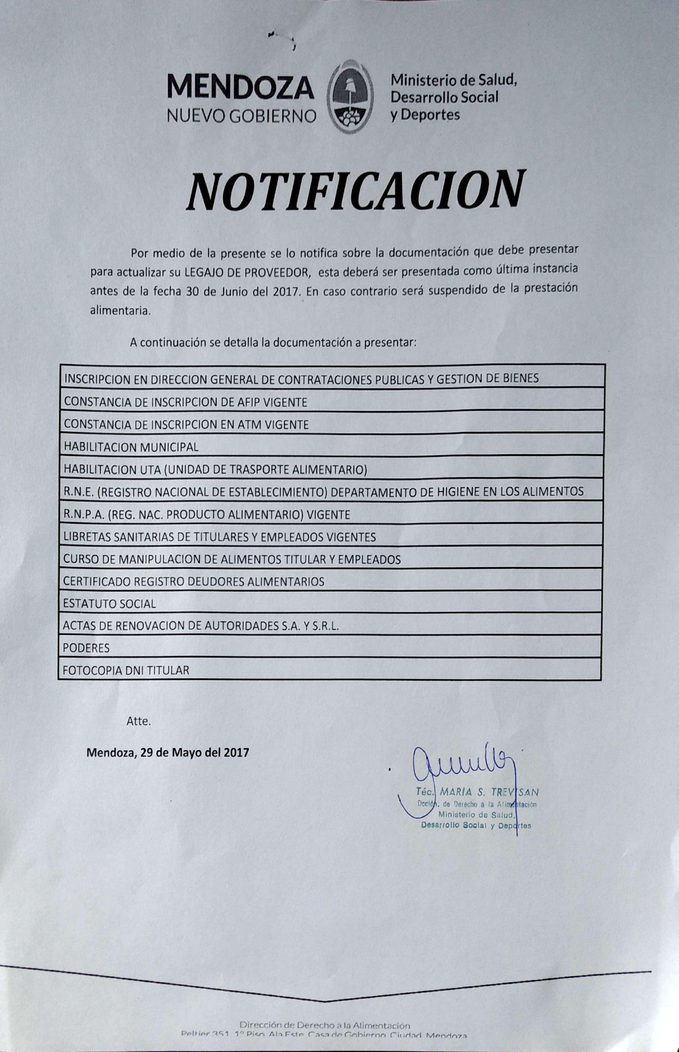 Notificacion Proveedores 2017-05-30