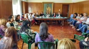 Día de la Mujer: reunión areas mujer