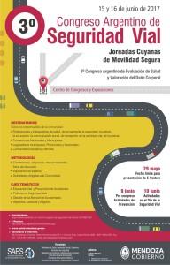 afiche congreso Seguridad Vial