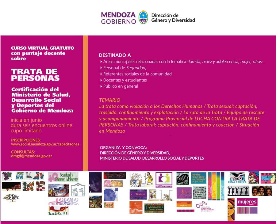 El Gobierno Ofrece Cursos Virtuales Sobre Trata De Personas Y Diversidad Sexual Prensa Gobierno De Mendoza