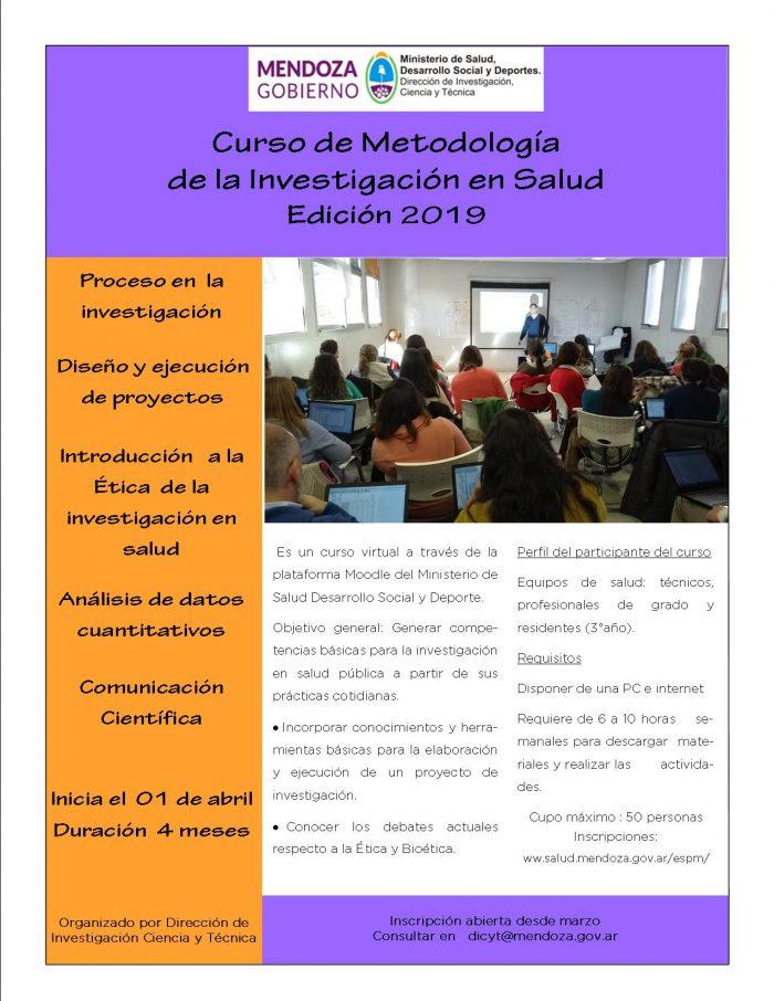 Curso de metodología 2019 DICYT