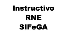 Instructivo RNE SIFeGA